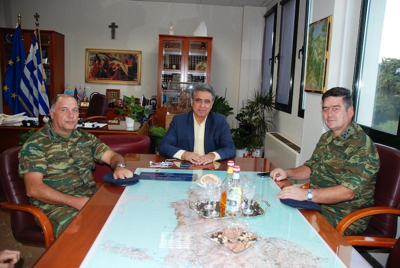 Συνάντηση αντιπεριφερειάρχη με γενικό επιθεωρητή στρατού