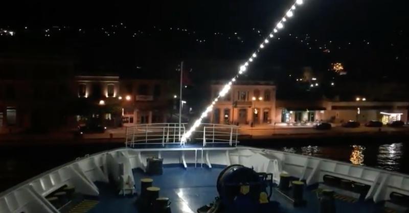Νυχτερινές λήψεις του Νήσος Σάμος (βίντεο)